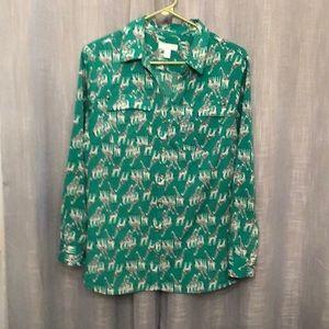 Print blouse size Petite Large